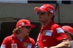 Kimi Räikkönen un d Giancarlo Fisichella (Ferrari)