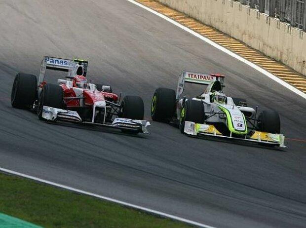 Kamui Kobayashi und Jenson Button