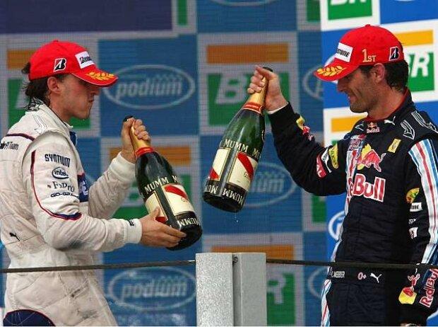 Robert Kubica und Mark Webber