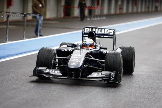 Nico H?nberg   F1Williams AT&T Williams F1 ~Bei der Jungfernfahrt in Portimão saß Testfahrer Nico Hülkenberg am Steuer - und der FW31 war noch interimistisch lackiert~