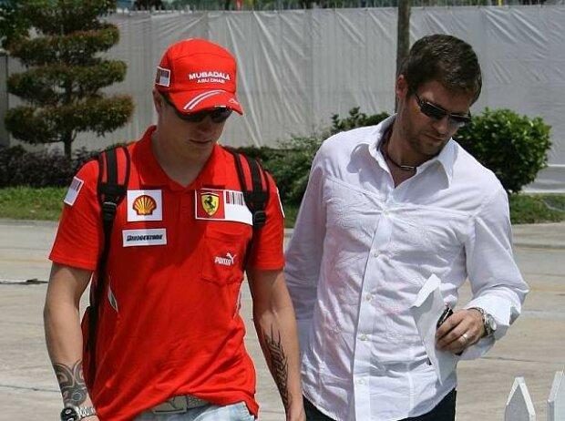 Kimi Räikkönen und Steve Robertson