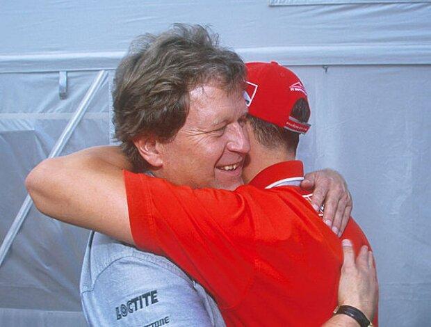 Norbert Haug und Michael Schumacher