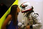 Auch Rubens Barrichello hat eine hübsche Ehefrau: Küsschen von Silvana