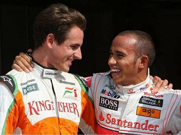 Adrian Sutil und Lewis Hamilton