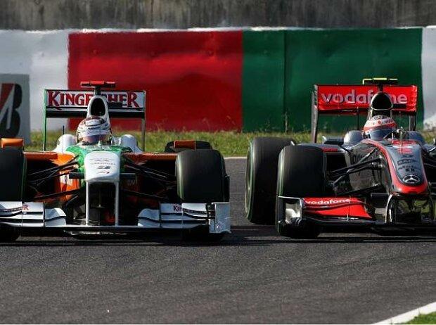 Adrian Sutil und Heikki Kovalainen