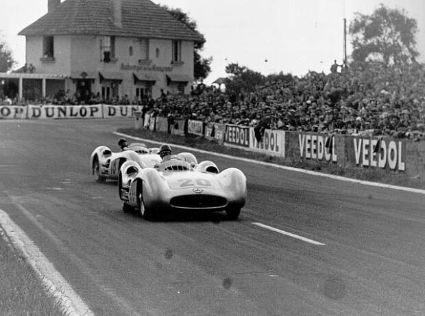 Karl Kling beim Grand Prix in Reims 1954
