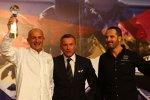 WTCC-Promoter Marcello Lotti mit Gabriele Tarquini und Yvan Muller (SEAT)