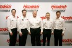 Jimmie Johnson, Dale Earnhardt Jun., Rick Hendrick,  Mark Martin und Jeff Gordon