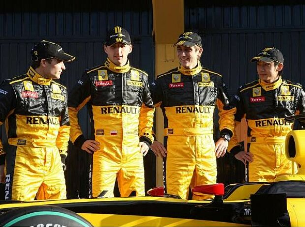 Jerome D'Ambrosio, Robert Kubica, Vitaly Petrov und Ho-Pin Tung