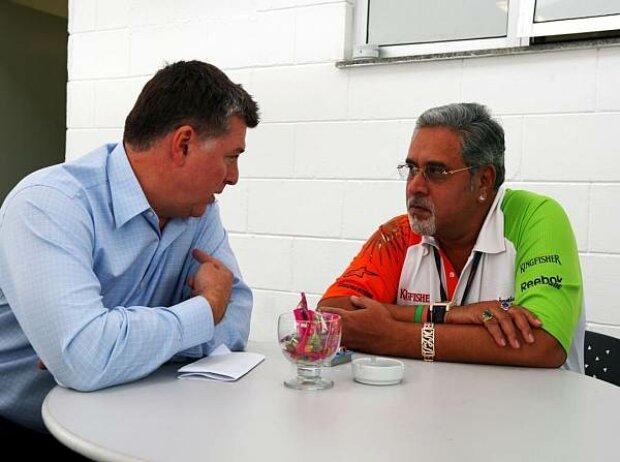 Otmar Szafnauer und Vijay Mallya