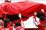 Der defekte F10 von Felipe Massa (Ferrari)
