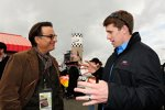 Carl Edwards (Roush) mit US-Schauspieler Andi Garcia