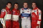 Giancarlo Fisichella, Jean Alesi, Olivier Panis und Nigel Mansell