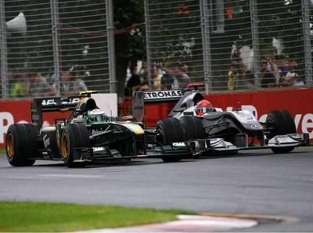 Michael Schumacher, Heikki Kovalainen