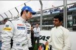 Bruno Senna (HRT) und Karun Chandhok (HRT)