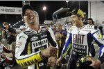 Colin Edwards (Tech 3) und Valentino Rossi (Yamaha)