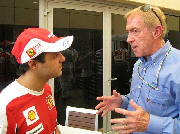 Felipe Massa und Steve Olvey