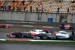 Michael Schumacher (Mercedes) Lewis Hamilton (McLaren)