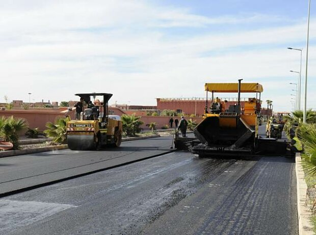 Streckenarbeiten in Marrakesch