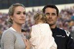 Casey Mears mit Ehefrau Trisha und Tochter