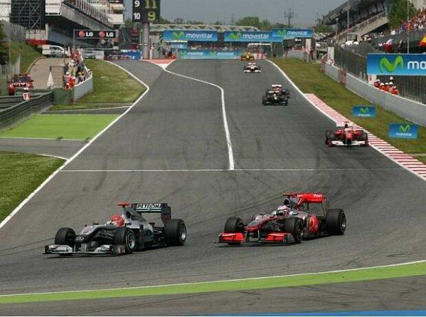 Michael Schumacher und Jenson Button