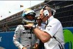 Nico Rosberg (Mercedes) mit Jock Clear (Renningenieur)