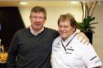 Ross Brawn (Teamchef) und Norbert Haug (Mercedes-Motorsportchef)
