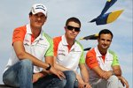 Adrian Sutil, Paul di Resta und Vitantonio Liuzzi (Force India)