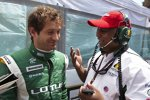 Jarno Trulli und Tony Fernandez (Teamchef) (Lotus)