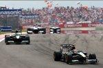 Jarno Trulli (Lotus) vor Heikki Kovalainen (Lotus)