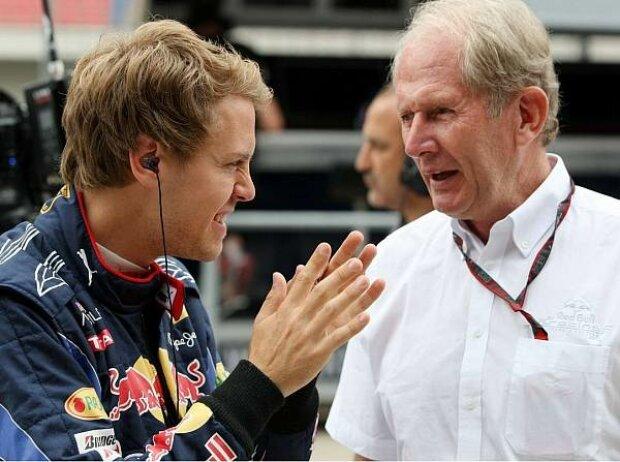 Sebastian Vettel und Helmut Marko