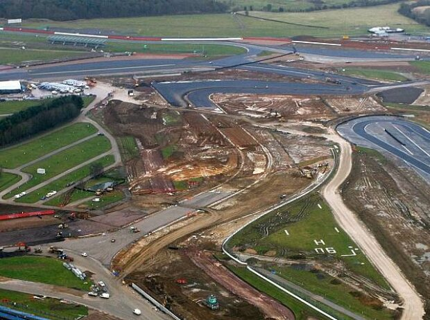 Umbauarbeiten in Silverstone