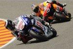 Jorge Lorenzo (Yamaha) und Andrea Dovizioso (Honda)