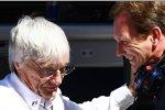 Bernie Ecclestone (Formel-1-Chef) und Christian Horner (Teamchef)