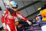 Fernando Alonso (Ferrari) und Mark Webber (Red Bull)