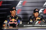 Mark Webber (Red Bull) und Sebastian Vettel (Red Bull)