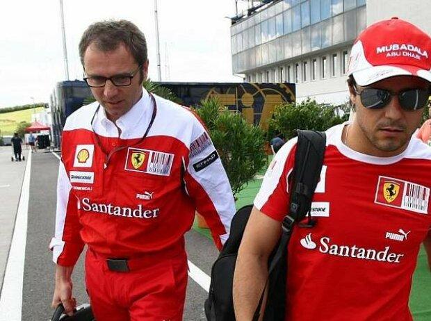 Felipe Massa, Stefano Domenicali (Teamchef)