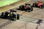 Jarno Trulli (Lotus) und Jaime Alguersuari (Toro Rosso)
