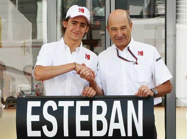 Esteban Gutierrez und Peter Sauber