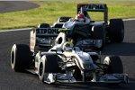 Nico Rosberg (Mercedes) vor Michael Schumacher (Mercedes)