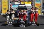 Das Podium der Rallye Spanien