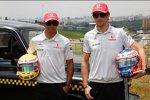 Jenson Button (McLaren) Lewis Hamilton (McLaren)