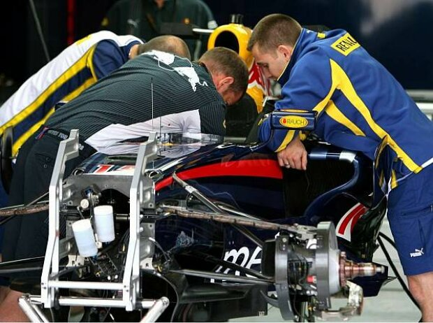 Renault-Ingenieure bei Red Bull