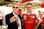 Piero Ferrari und Stefano Domenicali (Teamchef) (Ferrari)