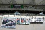 Transparente für Michael Schumacher (Mercedes)