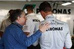 FIA-Präsident Jean Todt und Michael Schumacher (Mercedes)