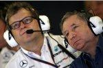 Norbert Haug (Mercedes-Motorsportchef)  und FIA-Präsident Jean Todt