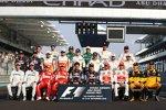 Gruppenbild der Formel 1 zum Saisonabschluss