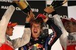 Jenson Button (McLaren) Lewis Hamilton (McLaren) Sebastian Vettel (Red Bull)