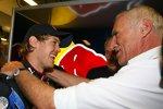 Sebastian Vettel (Red Bull) und Dietrich Mateschitz (Red Bull-Boss)